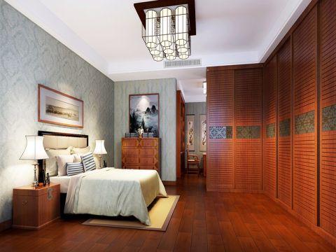 卧室吊顶中式风格装潢效果图