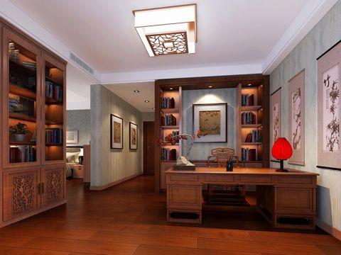 书房书架中式风格装修图片