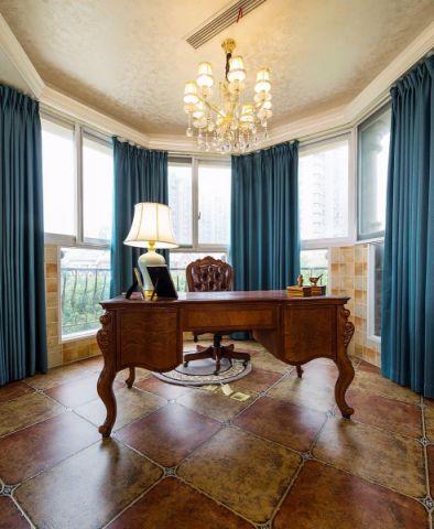 书房窗帘欧式风格装潢图片