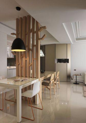 餐厅隔断现代简约风格装潢效果图