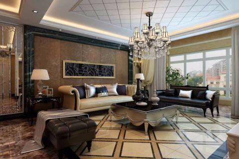 32.5万预算140平米三室两厅装修效果图