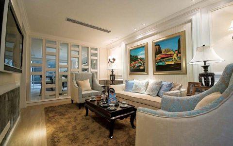 6.85万预算120平米三室两厅装修效果图