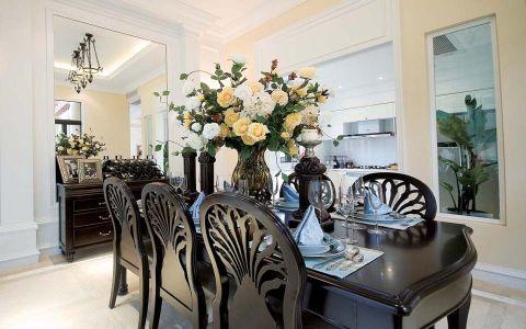 餐厅餐桌简欧风格装修设计图片