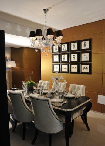 餐厅照片墙新古典风格装修效果图
