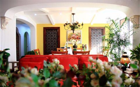 餐厅背景墙美式风格装饰效果图