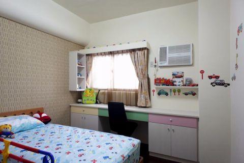 儿童房书桌现代简约风格装潢设计图片