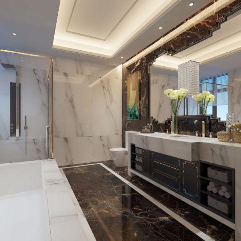 卫生间吊顶新中式风格装饰效果图