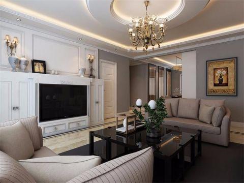 28.86万预算120平米三室两厅装修效果图