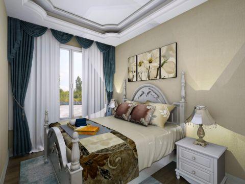 卧室窗帘欧式风格装修设计图片