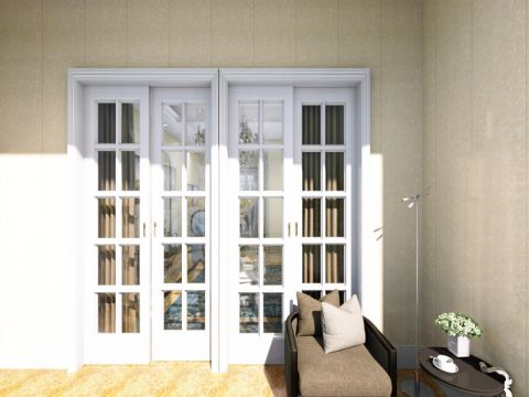 阳台推拉门欧式风格装潢设计图片