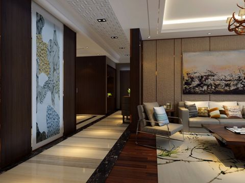 客厅走廊新古典风格装潢设计图片