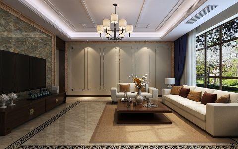 新中式风格175平米大户型房子装饰效果图