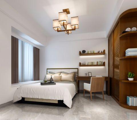 卧室书桌中式风格装饰效果图