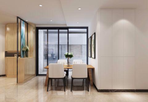 8万预算100平米一居室装修效果图