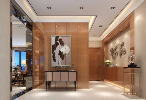 玄关背景墙简欧风格装饰设计图片