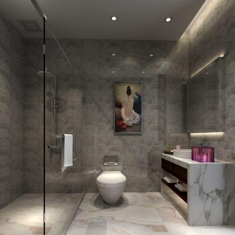 卫生间背景墙简中风格装饰图片