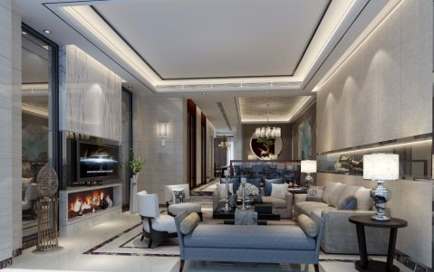 30万预算300平米别墅装修效果图