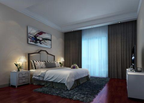 卧室窗帘简中风格装饰设计图片