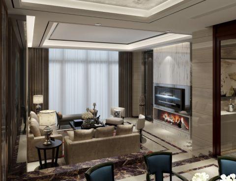 客厅吊顶简中风格装潢设计图片