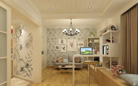 客厅吧台现代简约风格效果图