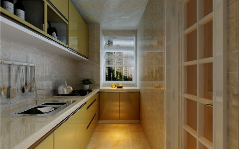 厨房白色窗帘现代简约风格装饰图片