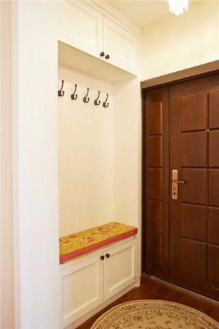 玄关米色背景墙美式风格装修图片
