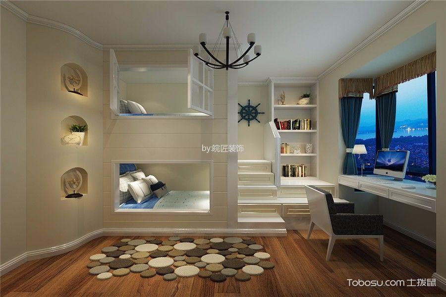 儿童房白色床现代简约风格装修效果图