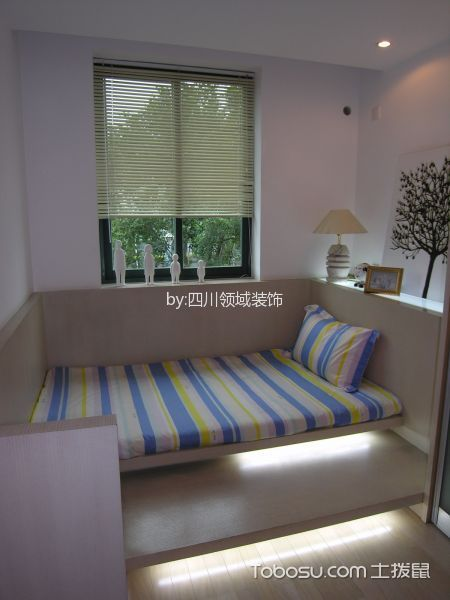 儿童房米色床现代简约风格装修图片
