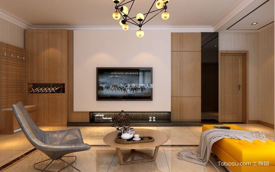 客厅 背景墙_4.5万预算134平米两室两厅装修效果图