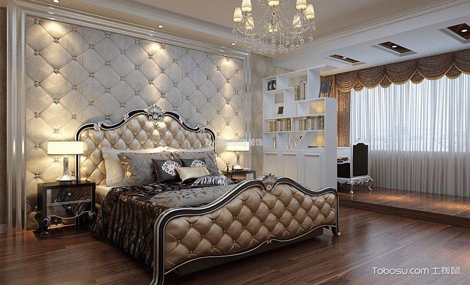 卧室 背景墙_8万预算140平米大户型装修效果图