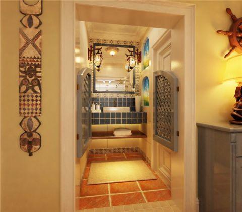 卫生间地砖美式风格装潢图片