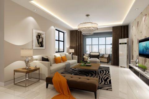 5万预算135平米三室两厅装修效果图