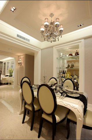 餐厅餐桌简欧风格装饰图片