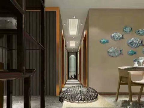 餐厅走廊新中式风格装饰图片