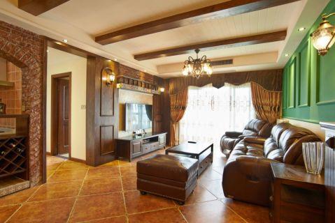 5.1万预算120平米三室两厅装修效果图