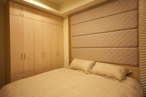 卧室米色背景墙现代简约风格效果图
