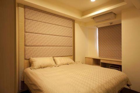 卧室米色窗帘现代简约风格装修效果图