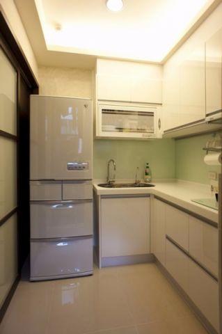 厨房白色橱柜现代简约风格装修图片