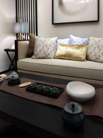 客厅沙发新中式风格装修图片