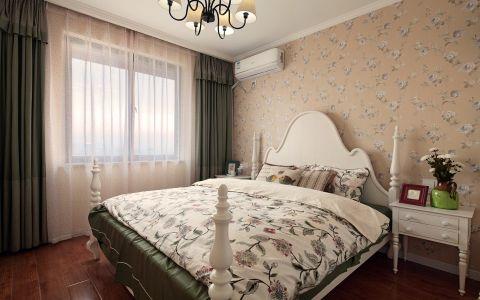 卧室米色背景墙美式风格装饰效果图