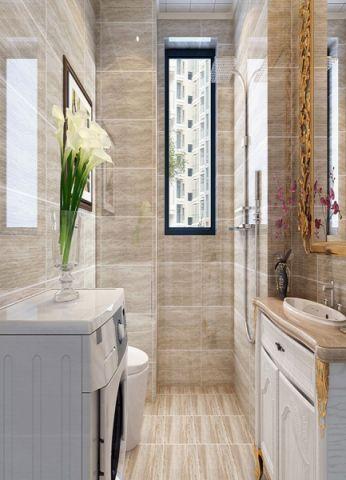 卫生间背景墙简欧风格装修效果图