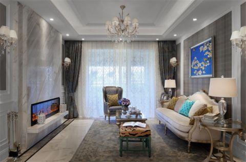 客厅吊顶法式风格装饰设计图片