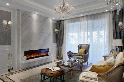 客厅窗帘法式风格装潢设计图片