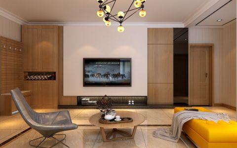 4.5万预算134平米两室两厅装修效果图