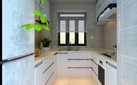 厨房窗帘现代简约风格装潢效果图