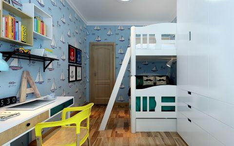 儿童房背景墙现代简约风格装饰图片
