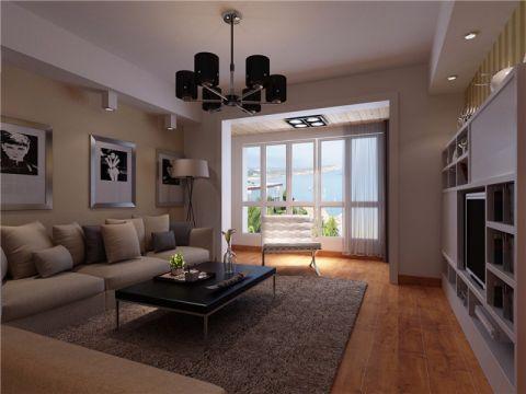 17万预算90平米两室两厅装修效果图
