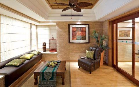 阳光房推拉门东南亚风格效果图