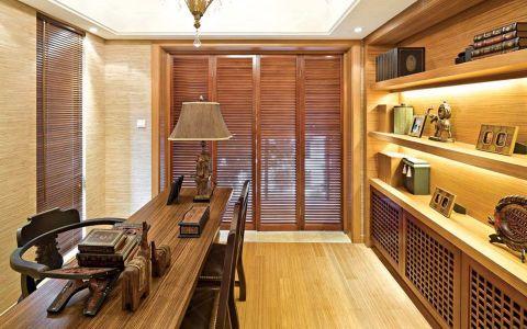 书房书桌东南亚风格装饰效果图
