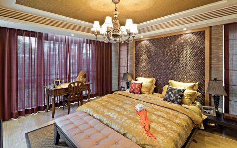 卧室窗帘东南亚风格装饰图片